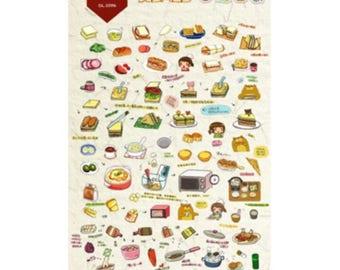 Daisyland Handmade Dishes Sticker Decorative DIY Scrapbooking Planner Sticker
