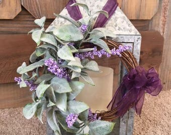 Lambs ear, Lavender mini Wreath