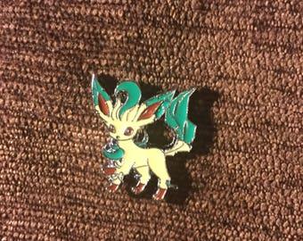 Pokemon Leafeon (eevee grass) hat pin
