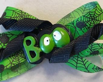 """Halloween """"BOO"""" Hair Bow"""