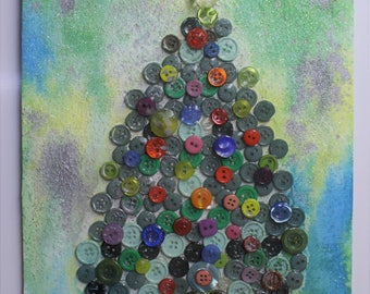 Button Christmas Tree Picture