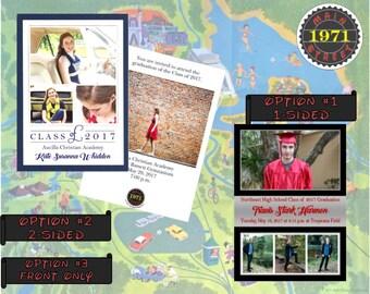 Custom Graduation Announcement Invitation Digital Download