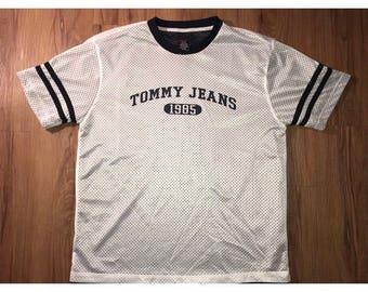 Vintage 90's Tommy Hilfiger Tommy Jeans Jersey shirt mens sz L