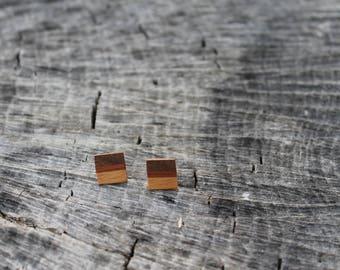 Wood Earrings Studs Minimalist Jewelry Geometric Earrings Wood Natural Minimalist Gift Geometric Jewelry Earrings Wooden Jewelry Handmade
