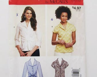 Woman's Blouse, Shirt, McCall's Easy Sew M9188-Uncut