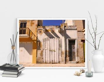 Old Door Photography Print, Wall Art, Sepia Print, Printable Art, Instant Digital Download Print