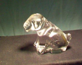 Goebel Crystal Dog Figurine
