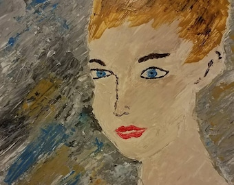 Pixie - Acrylic Pallette Knife Painting