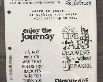 Tim Holtz Stampsrs Anonymous Cling Stamps