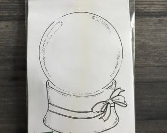 Impression Obsession Lg Globe Rubber Cling Stamp