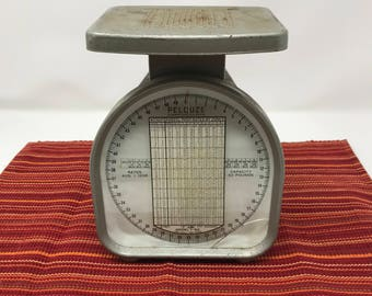 Vintage Pelouze Model Y-50 Postal Scale 1958 Rates