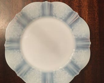 American Sweetheart Monax Milk Glass 1930's Dinner Plate 8 Inch Diameter incredibly beautiful nearly translucent plate. Wedding Cake