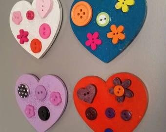 Set of four fridge magnets