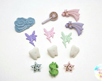 Tooth Fairy Buttons and Charms Set