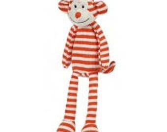 Orange Striped Sock Monkey