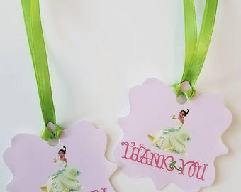 Princess and the Frog Thank you Tags Birthday Party Event Tiana Theme Birthday Party