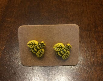 Small Bumble Bee Earrings (proceeds goes towards saving bees!)