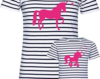 "T-shirt ""Unicorn"" for mother and daughter, set price!"