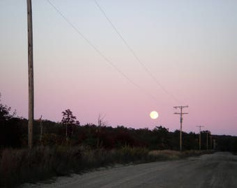 Social Media Photo - Moonlight - Purple Sky - Michigan - Instant Download
