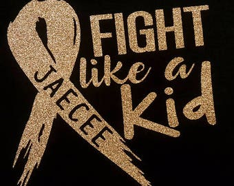 Fight like a Kid Car Decal - Childhood Cancer Awareness - Go Gold