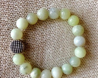 Carved Jade Yoga Bracelet