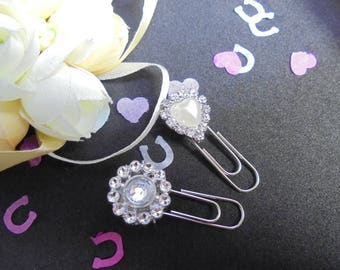 Wedding stationery- wedding planning- paperclips. Planning paper clips.