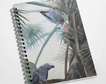 Exclusive A5 100 page African grey Parrot notebook
