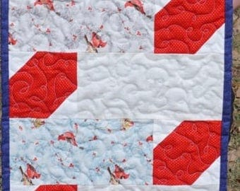 Winter Red Birds Table Runner (Large)
