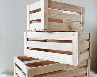 Plain wooden boxes crate
