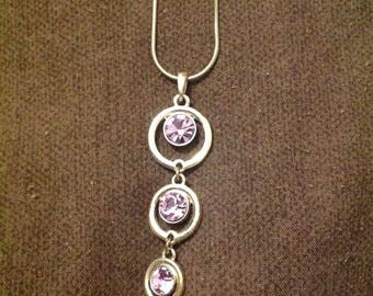 Purple multi pendant necklace