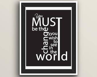Downloadable, Inspirational Print, Mahatma Gandhi