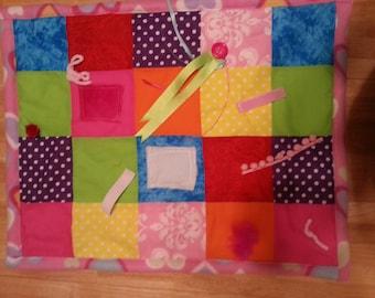 Alzheimer's Quilt/Memory Quilt/Fidget Quilt/Sensory Blanket/Activity Blanket/Dementia Awareness/Stroke/Nursing Home/Group Home/Busy Quilt/