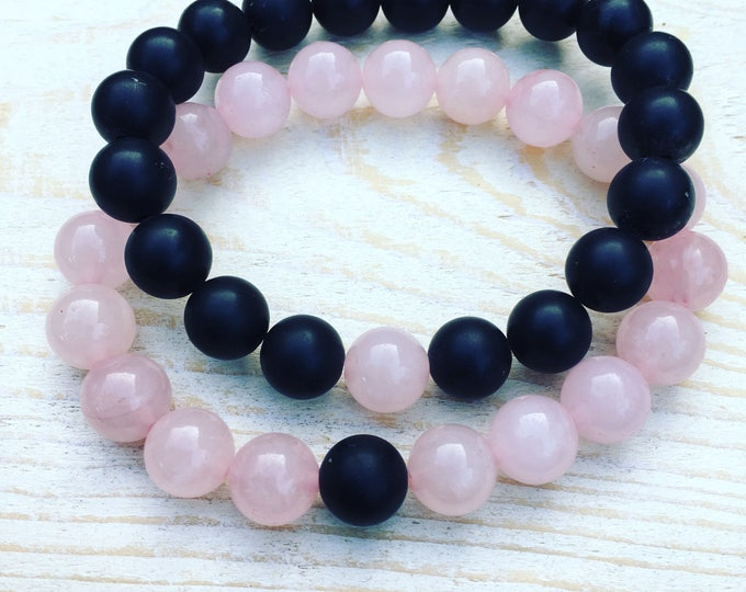 Free shipping within en bracelet set of 2 bracelets natural stone gemstone