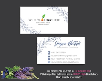 YL Business Cards, Custom YL Business Card, Custom Business Card, YLEO Marketing - Printable Business Card - Personalized Card YL06
