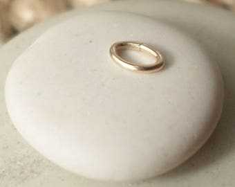 Set of 4 oval jump rings open gold filled 14 k 0, 64 x 0, 3 x 4, 6 mm