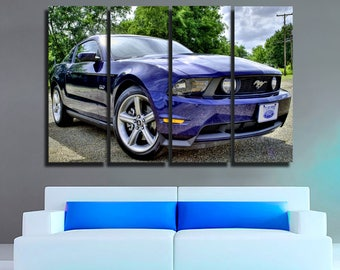 Ford Mustang GT Canvas Ford Mustang GT Print Ford Mustang Wall Art Ford  Mustang Wall Decor