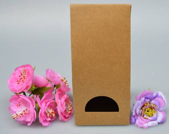 8*6.5*18cm Custom Kraft Paper Stand Up bag food packaging paper bag Toast Bread/hot Dog/cake packaging Bag 30 pieces / lot