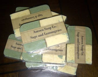 Sage & Lemongrass w/Shea Butter - Handcrafted Artisan Soap Bars