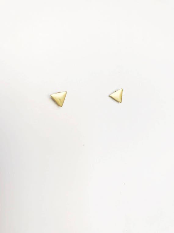 Tiny Triangle Post Earrings