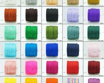 1MM Chinese Knot Nylon Cord Shamballa Macrame Beading Kumihimo String 40 Yards Spool - Pick Your Color!
