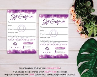 Monat Gift Certificate, Monat Gift Card, Custom Monat Hair Care Card, Monat Marketing, Fast Free Personalization, Monat Business Cards MN07