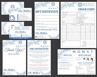 PERSONALIZED Monat Marketing Kit, Monat Bundle, Monat Cards, Custom Monat Hair Care, Monat Global Marketing, Printable Card MN27
