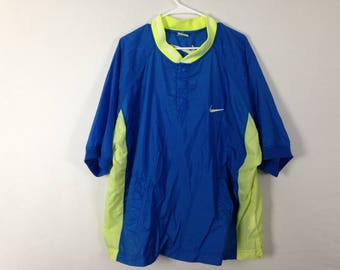 blue and yellow/green nike pullover size XL