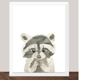 Sneaky Fella - Raccoon Print