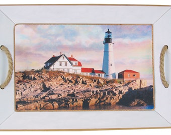 New England Lighthouse Serving Tray