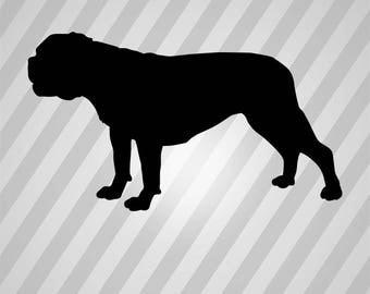 bulldog Silhouette - Svg Dxf Eps Silhouette Rld RDWorks Pdf Png AI Files Digital Cut Vector File Svg File Cricut Laser Cut
