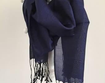 OPENING SALE 30% OFF flosh silk, foulard, scarf, linen, organic, handmade, free shipping