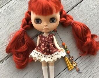 OOAK Blythe Doll, Custom Doll, Art Doll, Red hair doll