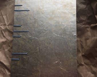 Coptic journal sketchbook - gold leaf