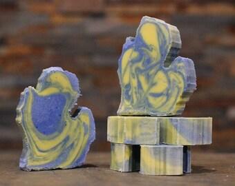 Michigan Shaped Michigan Made Soap - Ann Arbor - Energy Citrus Scent - Quality, Luxurious, Vegan Oils